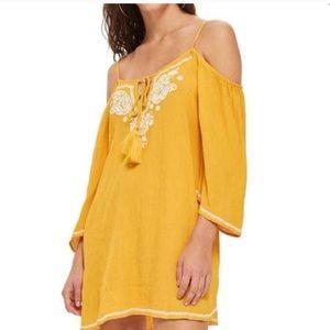 Topshop Cold Shoulder Dress
